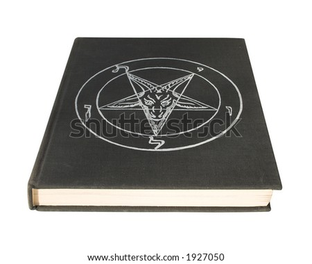 Book with pentagram - stock photo