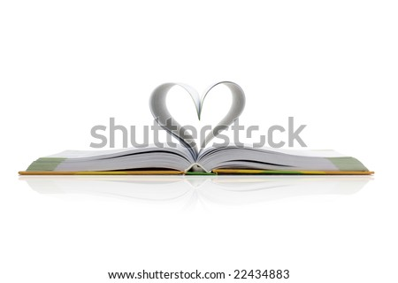 Book with the heart - stock photo
