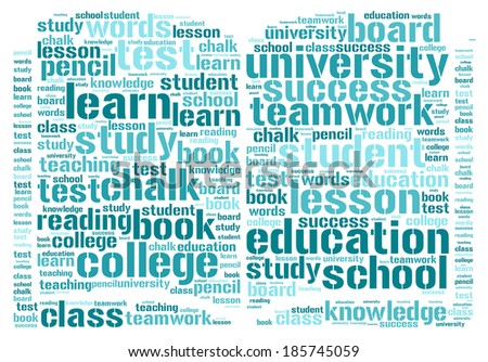 Book word cloud concept isolated