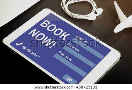 Bangkok thailand december 20 2016 retail stock photo for Tablet hotel booking