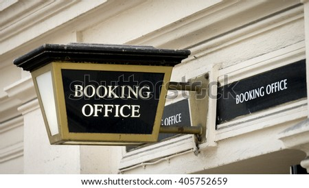 Booking Office Sign Outside Theatre