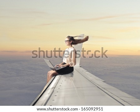 Booking Vacation - stock photo