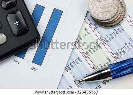 Bookkeeping, banking and financial concept - stock photo