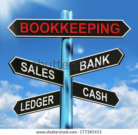 Bookkeeping Sign Meaning Sales Ledger Bank And Cash