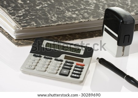 bookkeeping tools - stock photo