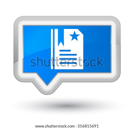 Bookmark icon cyan blue banner button - stock photo