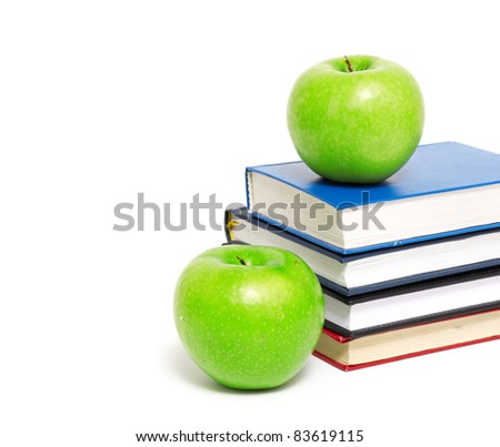 books and an apple back to school concept