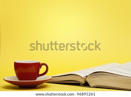 Books and coffee - stock photo