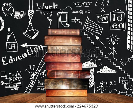 Books and education - stock photo