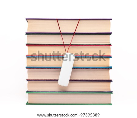Books and flash drive. - stock photo