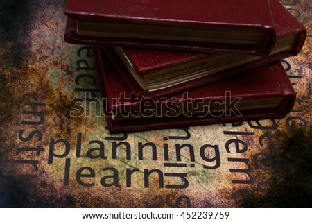 Books and learn grunge concept - stock photo