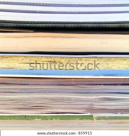 Books and magazines background