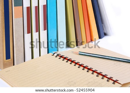 books and notebook
