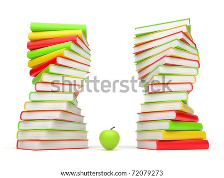 Books. 3d Illustration on a white background - stock photo