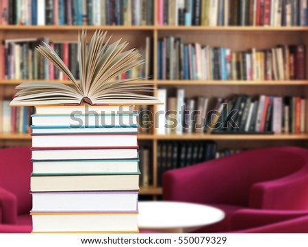 Books decoration for Library and Education concept