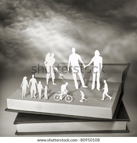 Books For Everyone. Conceptual photography. - stock photo