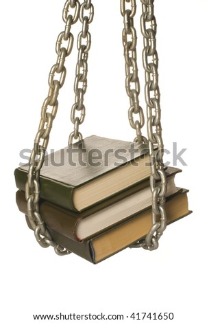 Books in captivity - stock photo