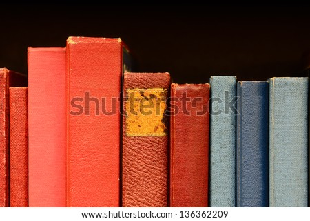 Books in shelf - stock photo