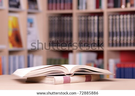 Books in the city library - stock photo