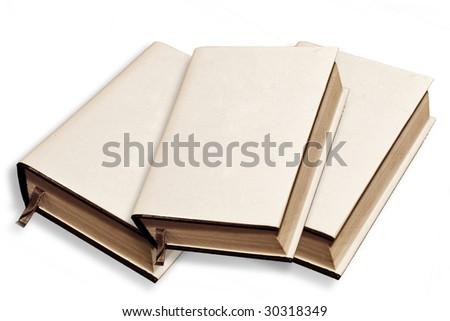 books in white cover - stock photo