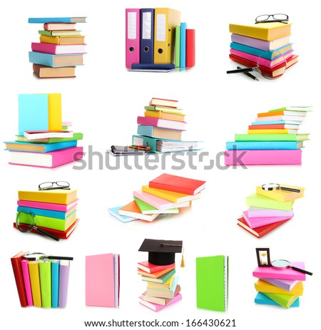 Books isolated on white
