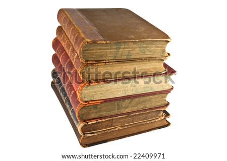 Books.Isolated on white background.