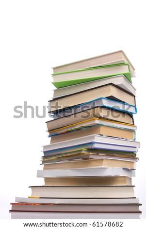 books - isolated on white background - stock photo