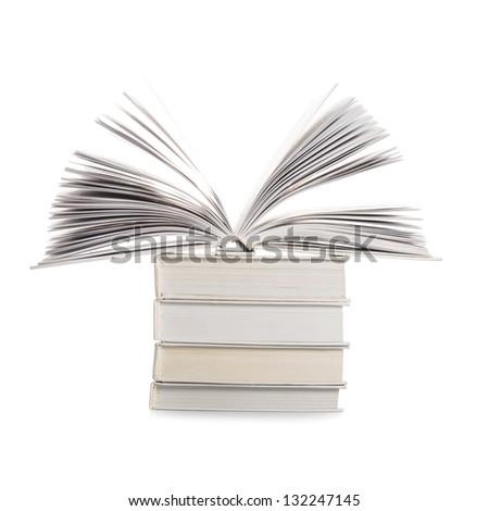 Books isolated on white background, education concept - stock photo