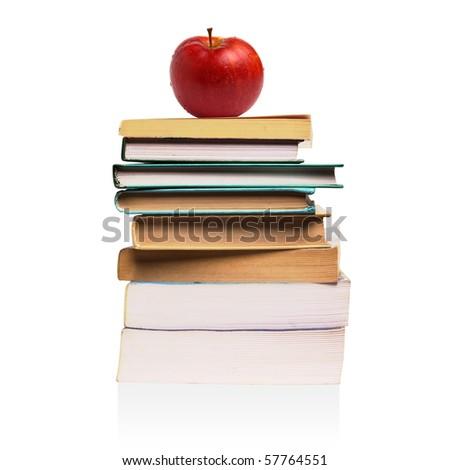books isolated over white background - stock photo
