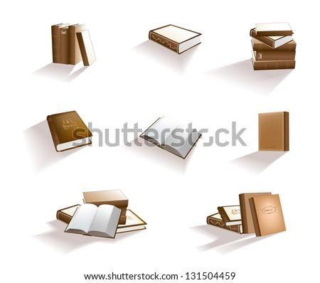 Books.  Its a raster version. Vector search in my portfolio. - stock photo