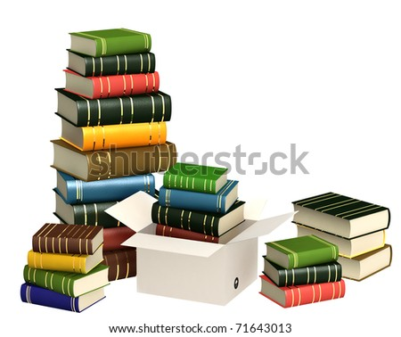 Books. Objects isolated over white - stock photo