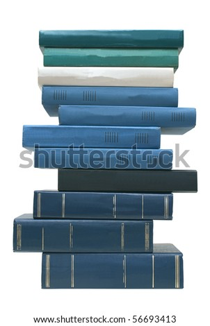 Books on a white background. - stock photo