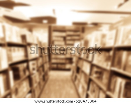 Books On Bookshelf In Library And Interior Of College With Textbooks Literature Menuscript