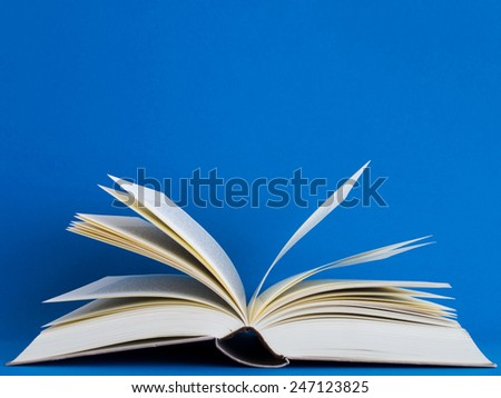 books on bright background - stock photo