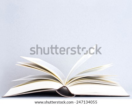 books on bright background