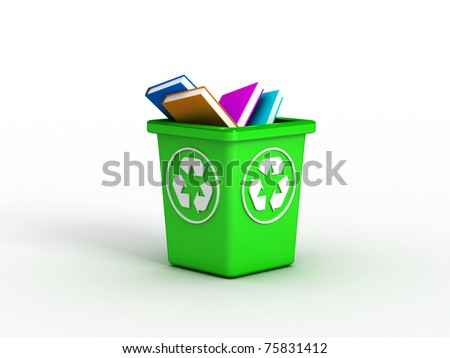 Books on recycle bin