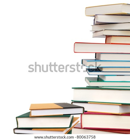 Books on school classes - stock photo