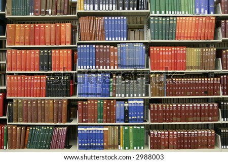 Books on Shelf - stock photo