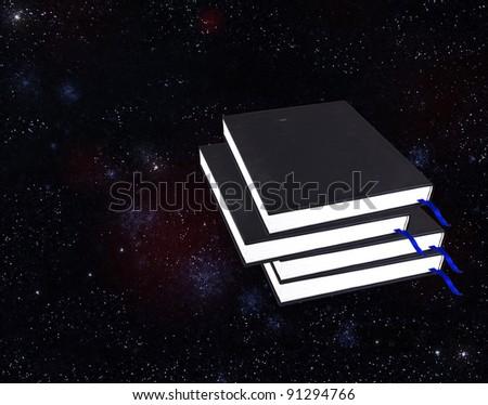 books on sky - stock photo