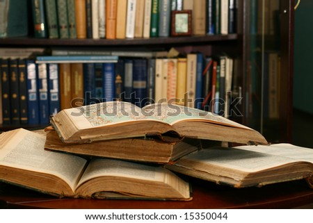 books on table