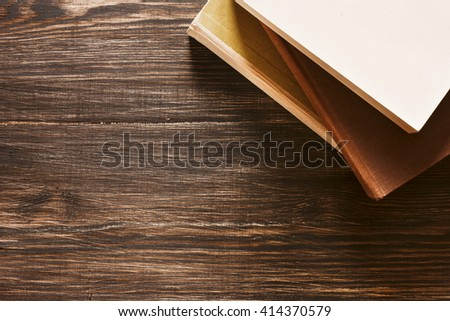 Books On The Desk./ Books On The Desk. - stock photo
