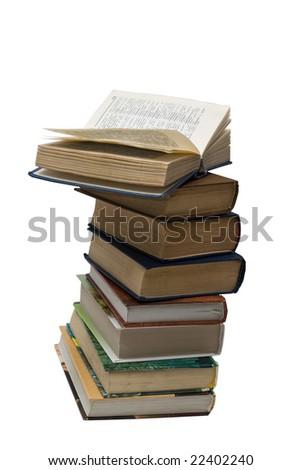 books on the white background - stock photo