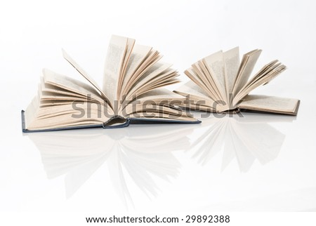 books on the white background - stock photo
