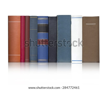 Books on the white background, isolated.With clipping path - stock photo