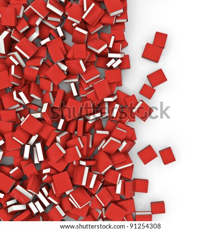 Books spill - stock photo