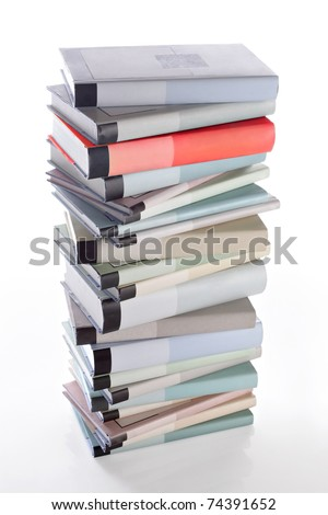 Books stack. - stock photo