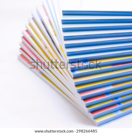 Books stack. Selective soft focus - stock photo
