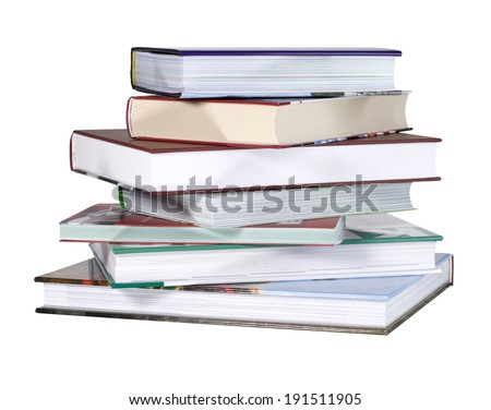books with white background
