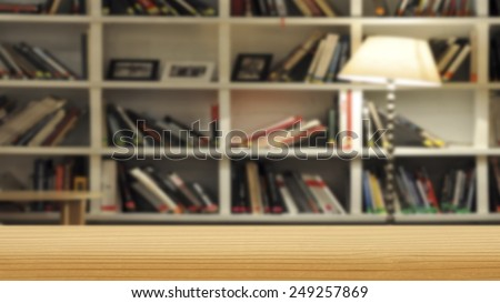 Bookshelf - background - stock photo