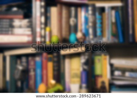 Bookshelf - blurred background